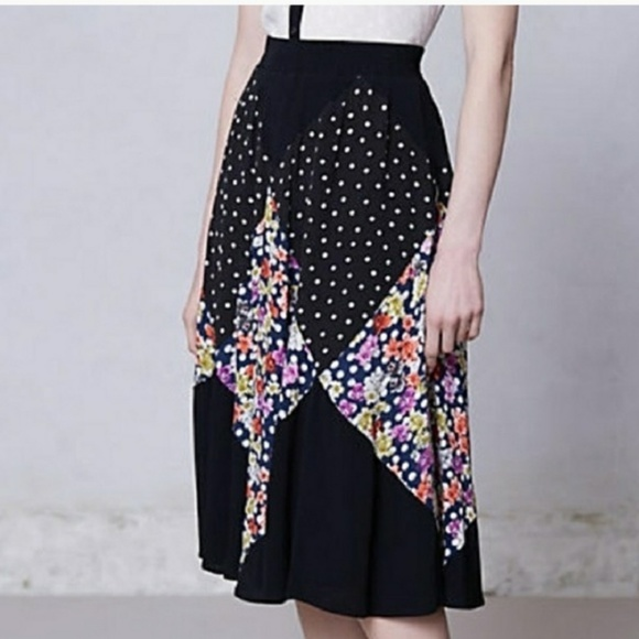 Anthropologie Dresses & Skirts - Maeve/Anthro - Diamond Mosiac floral skirt - L